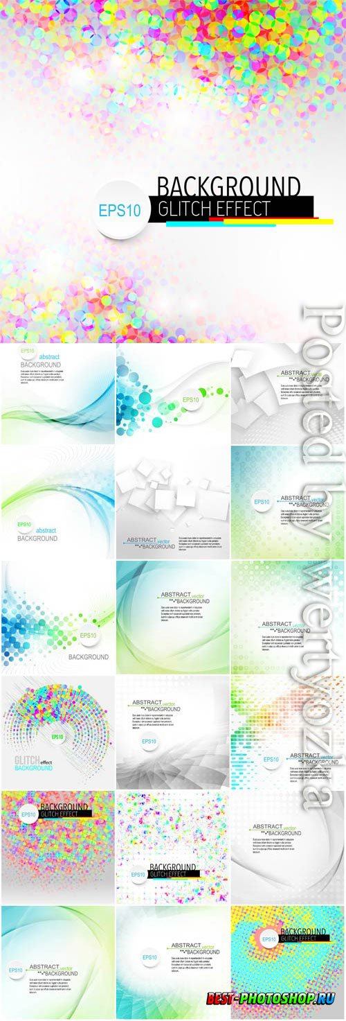 Abstract backgrounds with highlights and waves in vector