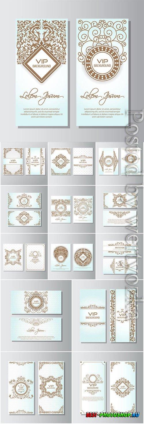 Luxury vip cards in vector