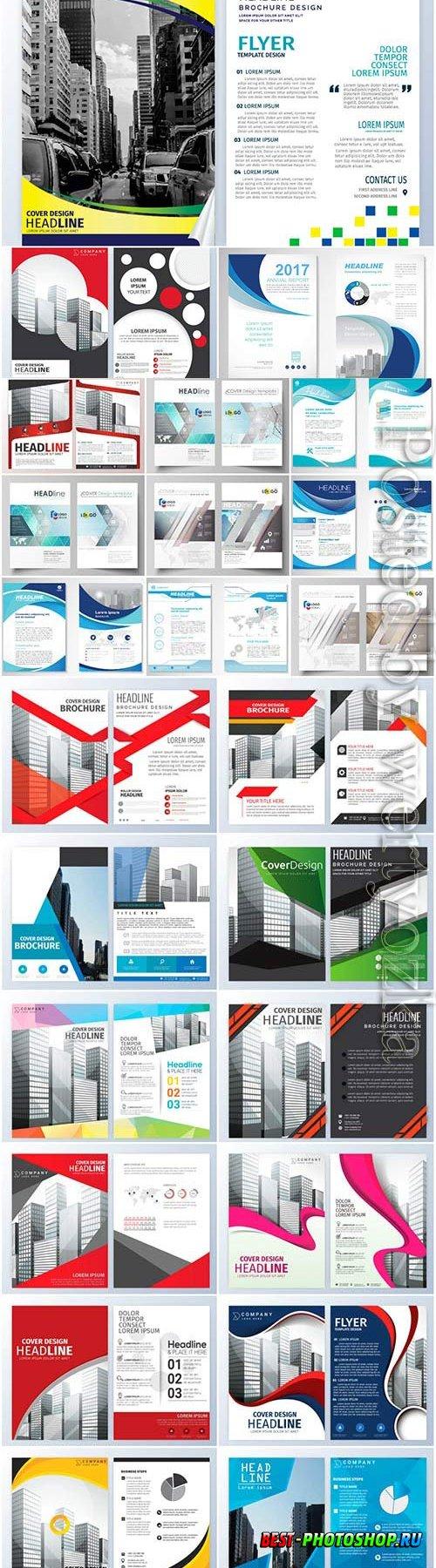 Business flyers set in vector