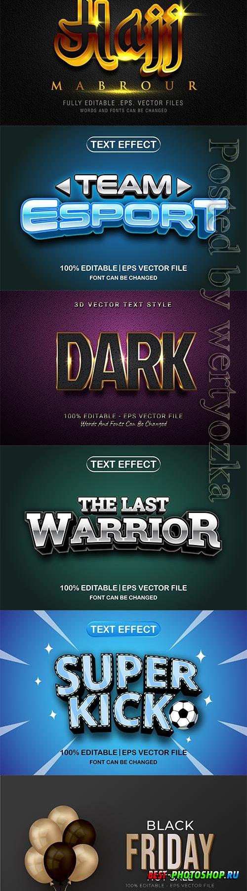 3d editable text style effect vector vol 639
