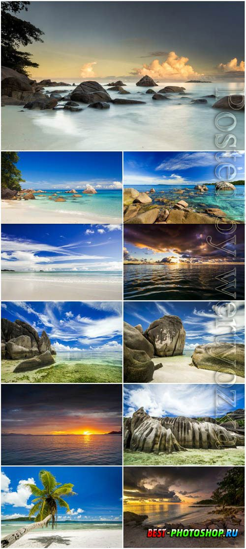 Landscapes with ponds stock photo