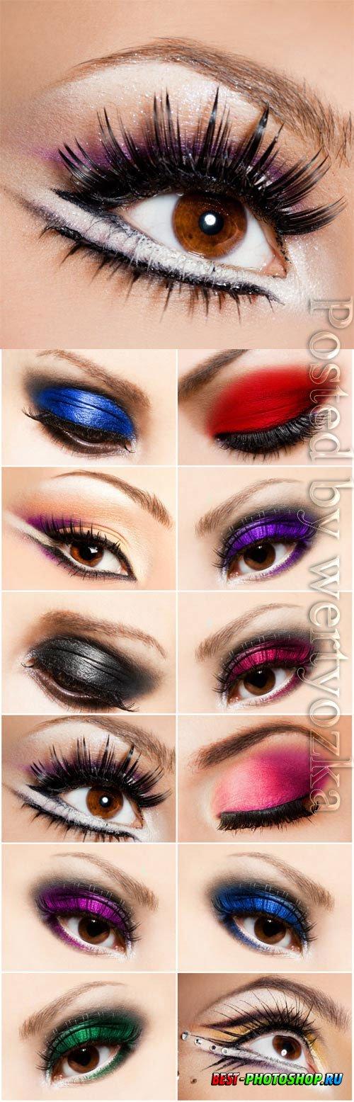 Fashion eye makeup stock photo