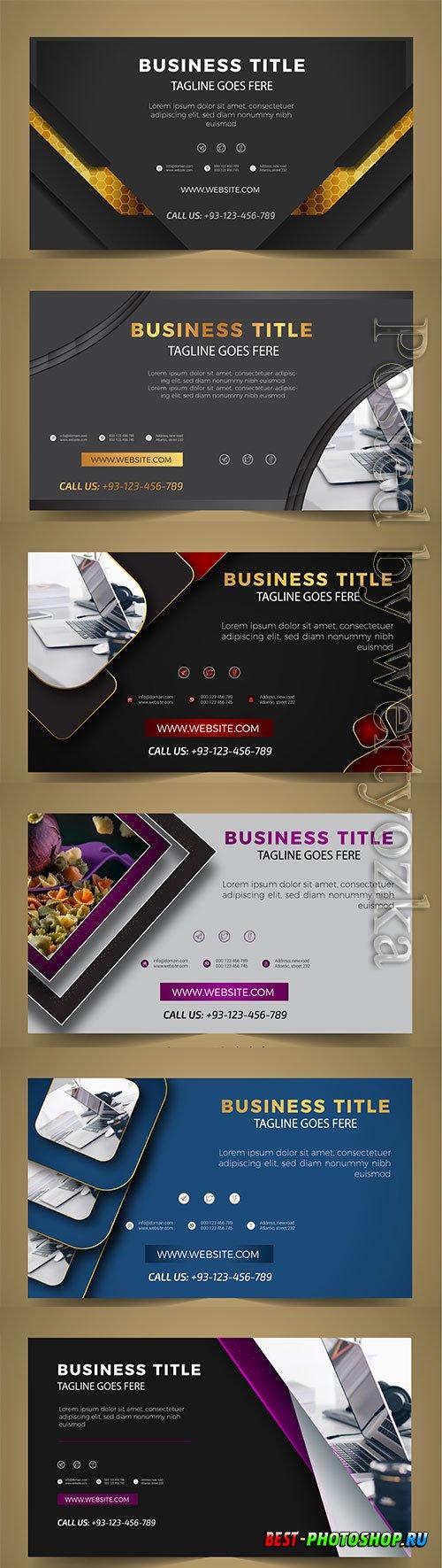 Modern business banner vector template design