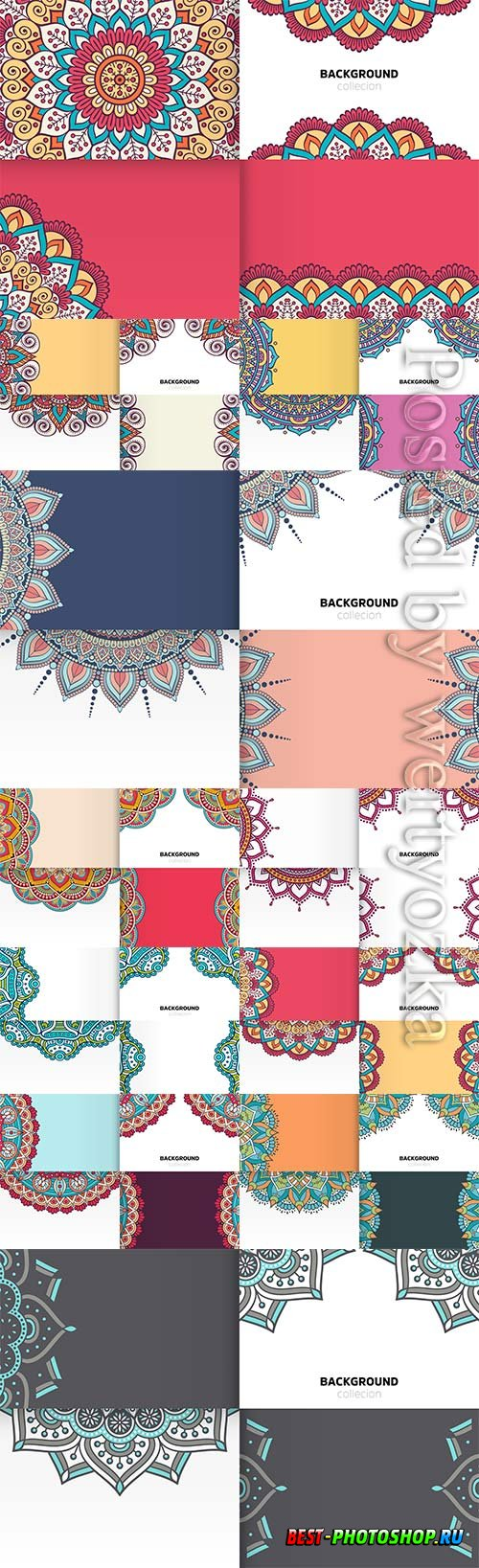 Background vector template in ethnic style