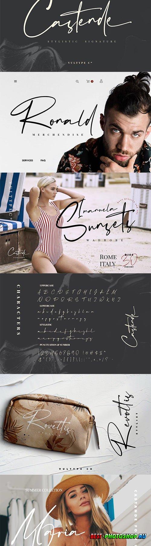 Castende - Signature Script Font