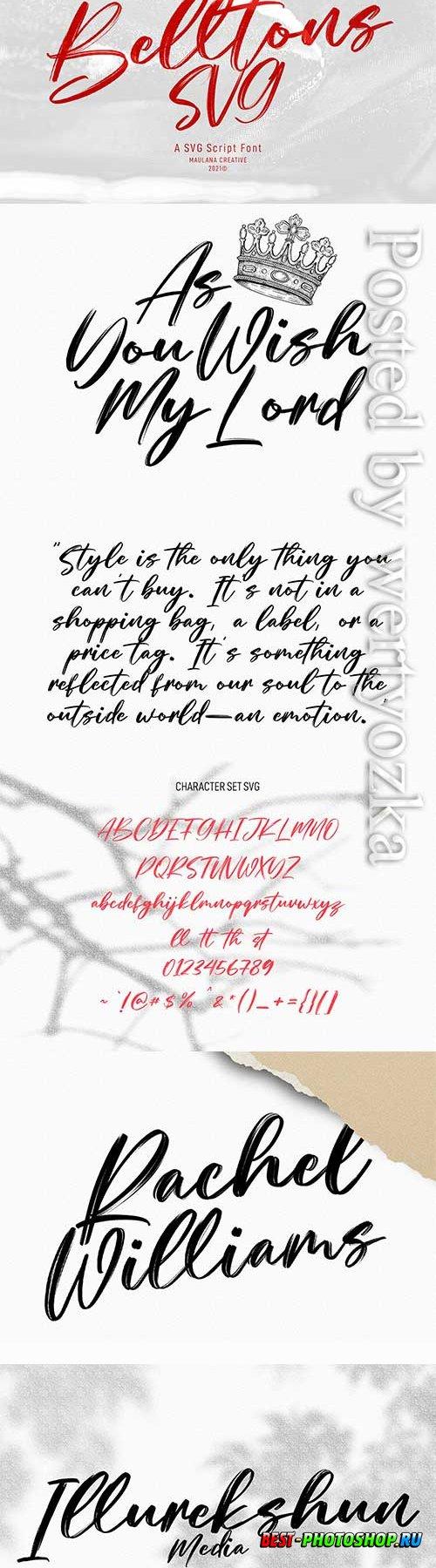 Belltons Brush Font