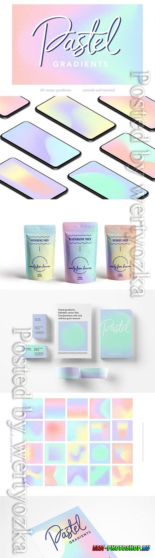 Pastel gradients in vector