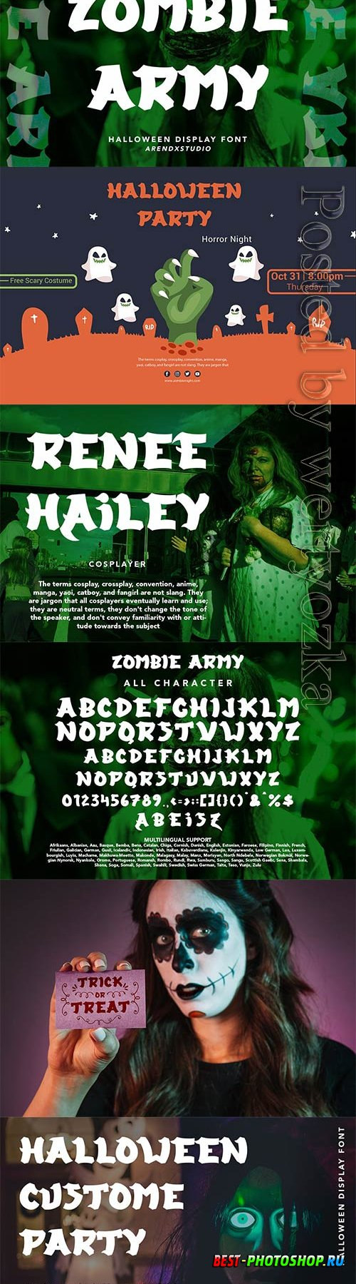 Zombie Army - Halloween Display Font