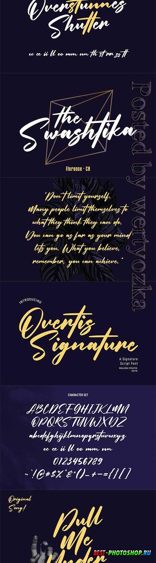 Overtis Signature Script Font 6361148
