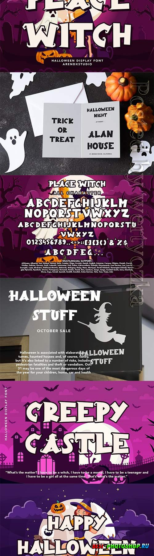 Place Witch - Halloween Display Font