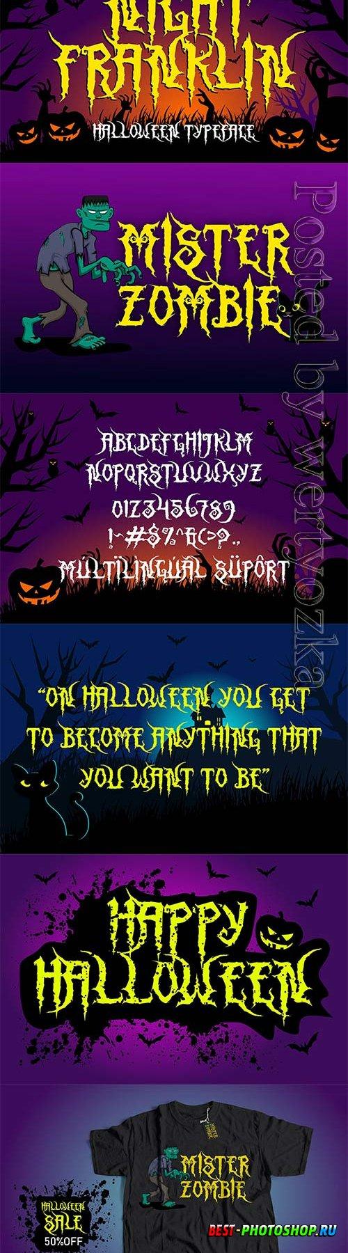 Night Franklin - Unique Halloween Font 6363774