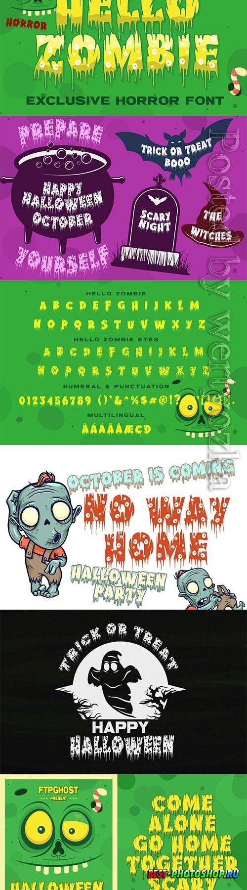 Hello Zombie Horror Font