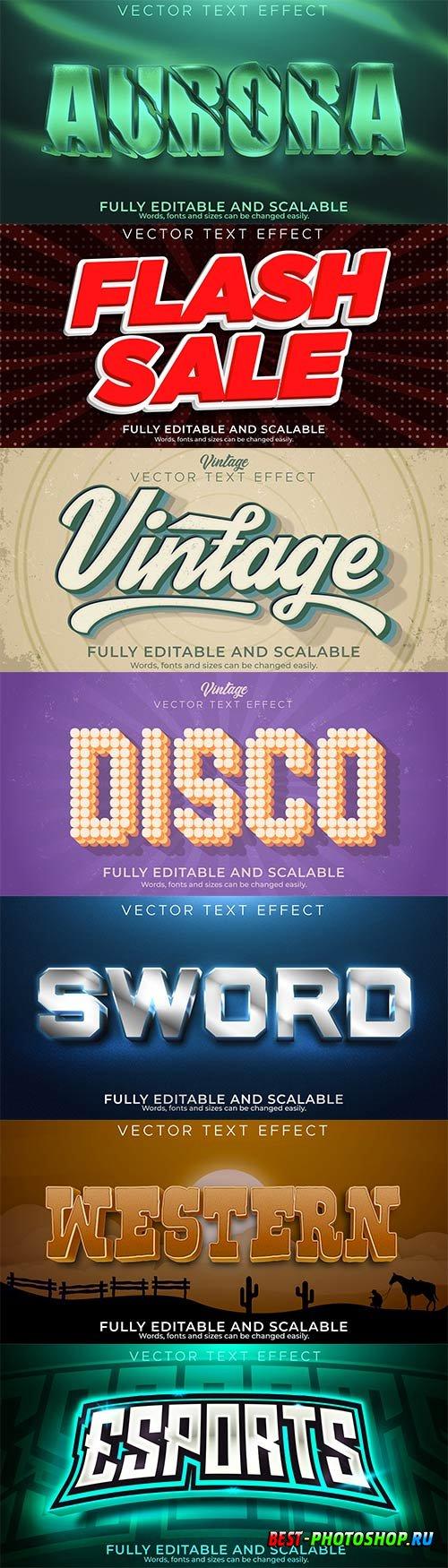 3d editable text style effect vector vol 864