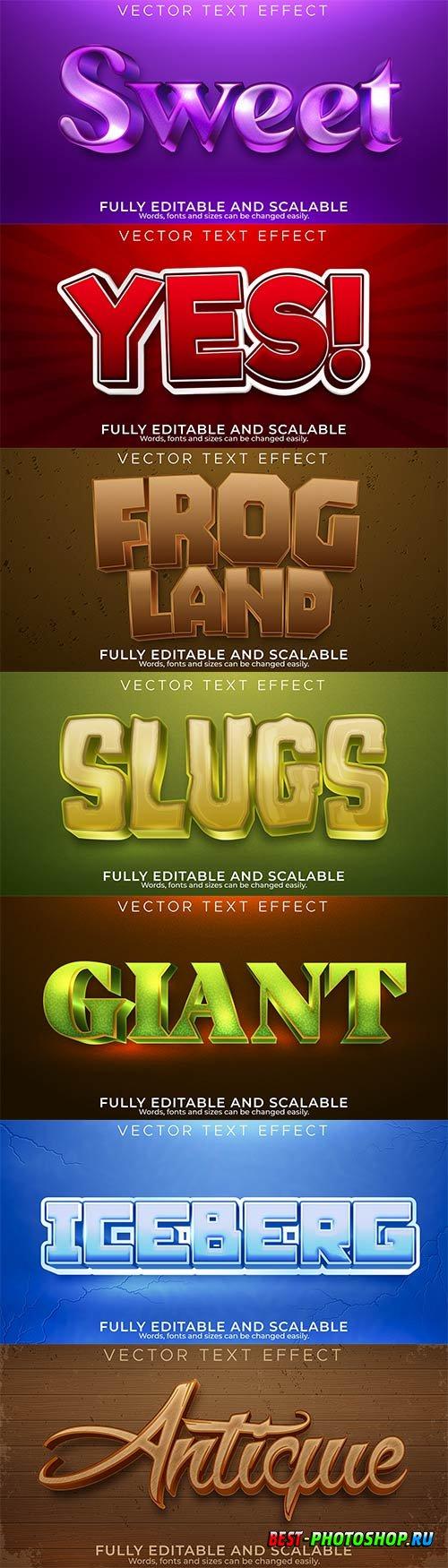 3d editable text style effect vector vol 863