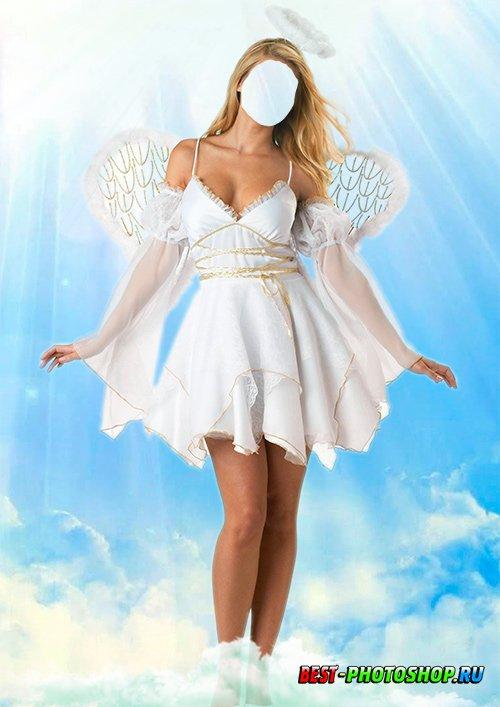 Женский костюм для фотомонтажа - Прекрасный ангел