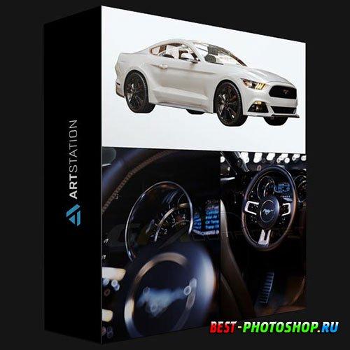 ARTSTATION – FORD MUSTANG GT 3D MODEL HQ INTERIOR