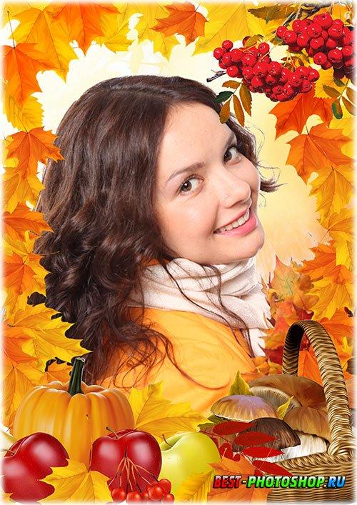 Фоторамка psd - Осенние дары