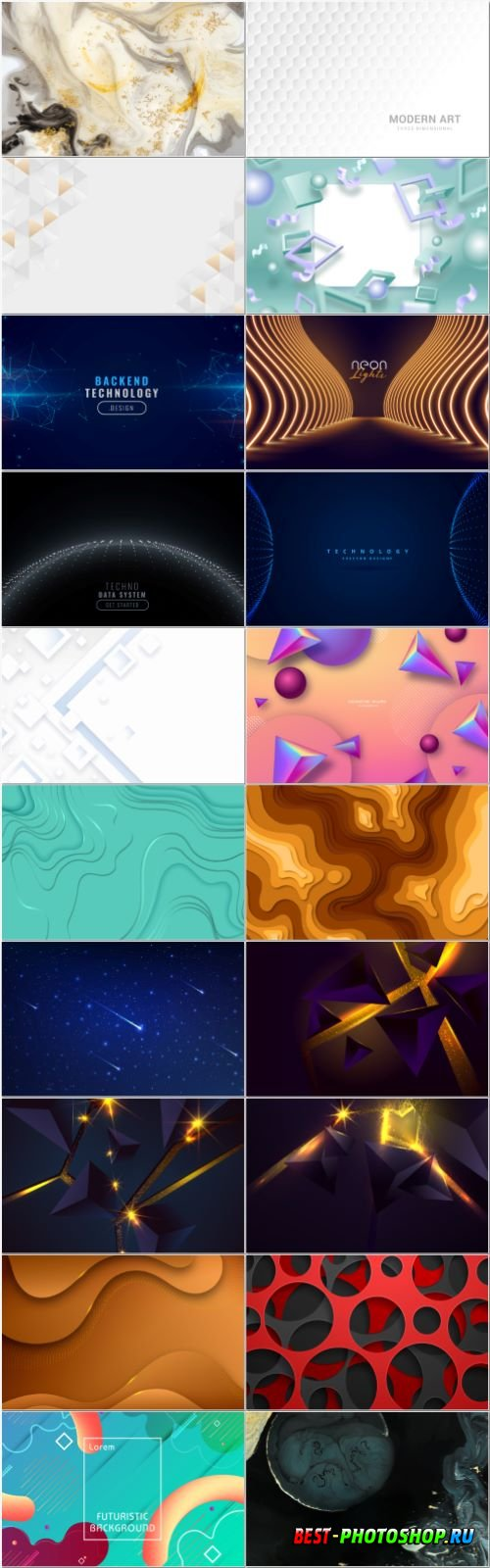 Set abstract vector background design