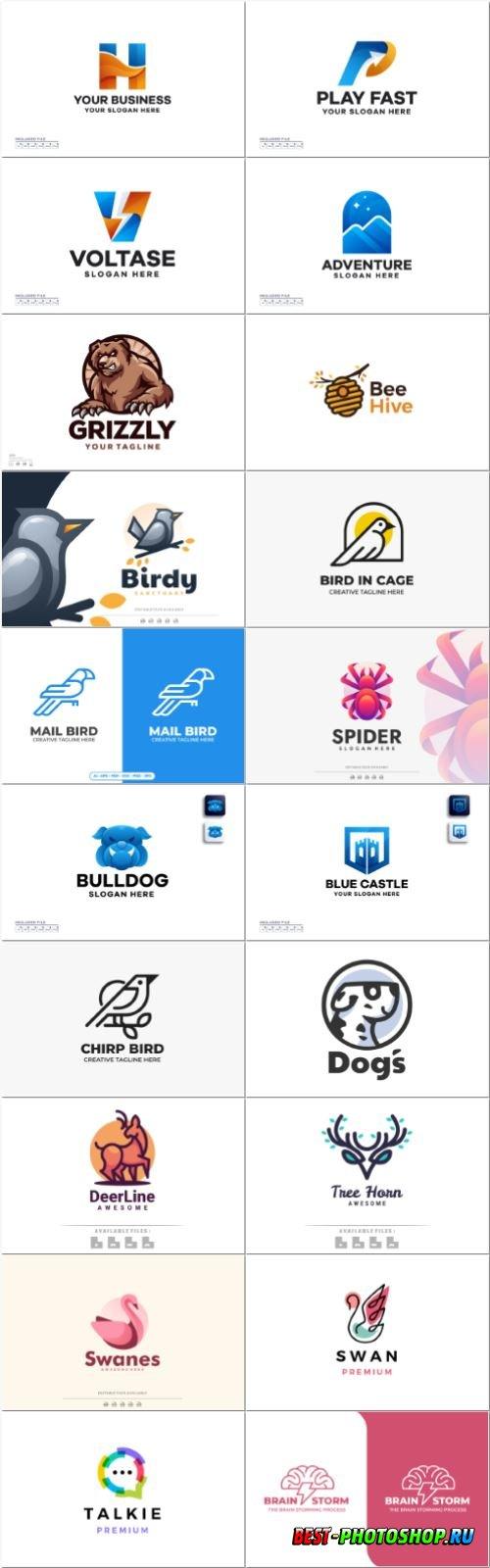 Set mascot logo vector template vol 9