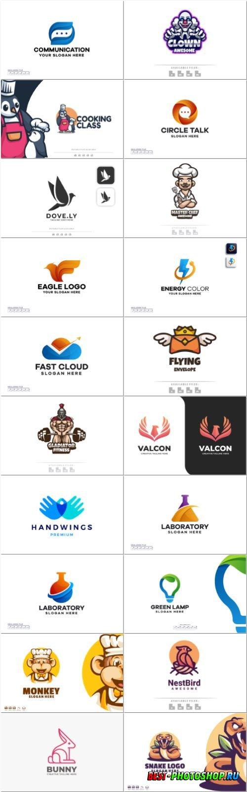 Set mascot logo vector template vol 10