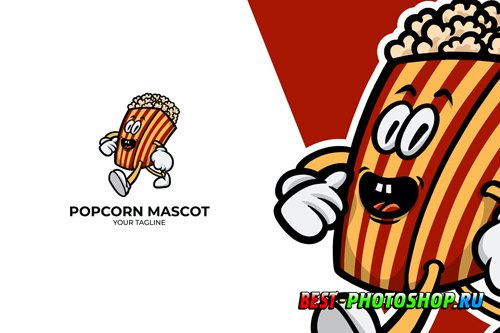 Popcorn Logo Mascot design templates