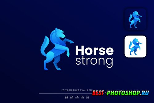 Horse Gradient Logo design templates