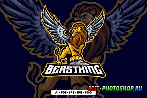 Lion Mascot logo design templates