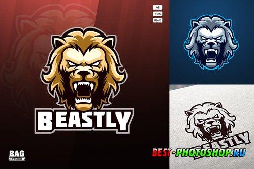 Golden Lion Esport Logo design templates