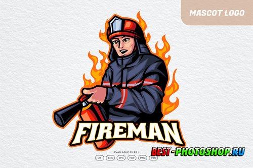 Fireman Logo design templates