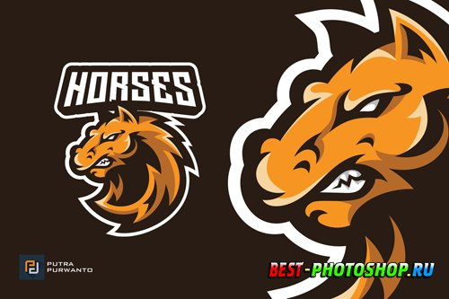 Horse Stallion Mascot Esport Logo Design