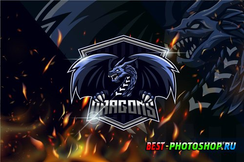 Dragon E-sport Logo Template