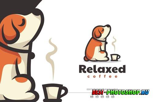 Puppy Cartoon Logo