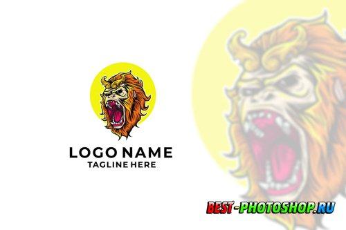 Monkey King Logo Design Vector