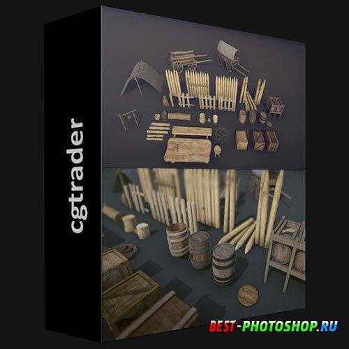 CGTRADER - MEDIEVAL PROPS - MEGA PACK LOW-POLY 3D MODELS