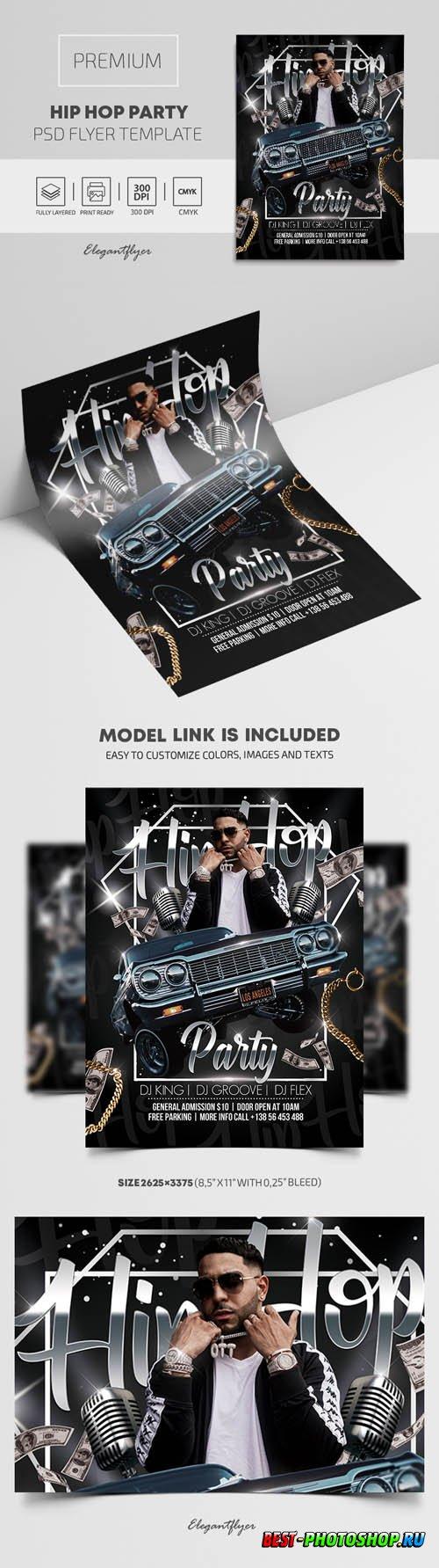 Hip Hop Party Premium PSD Flyer Template
