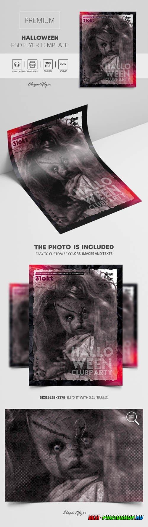 Halloween Premium PSD Flyer Template vol3
