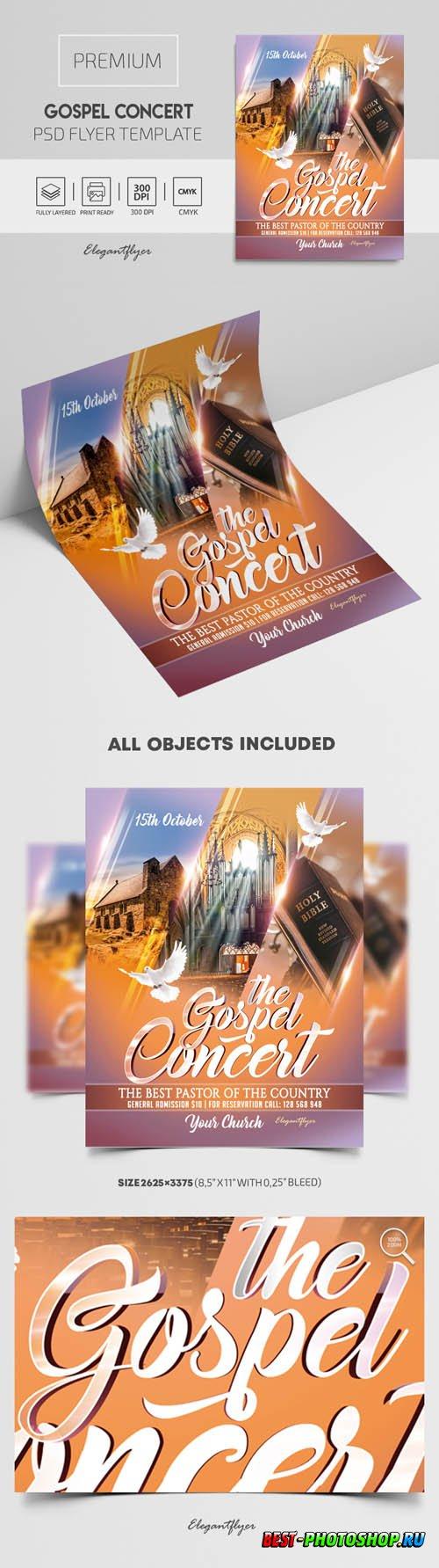 Gospel Concert Premium PSD Flyer Template