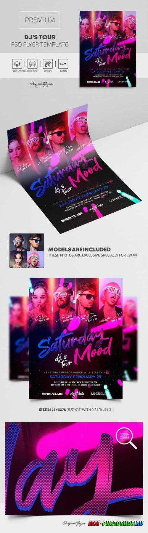 DJs Tour Premium PSD Flyer Template