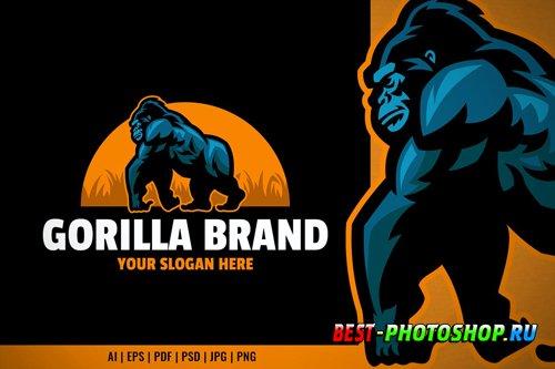 Walking Gorilla Logo Template
