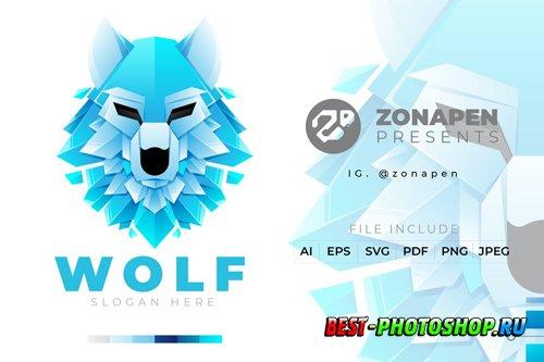 Wolf Gradient Logo