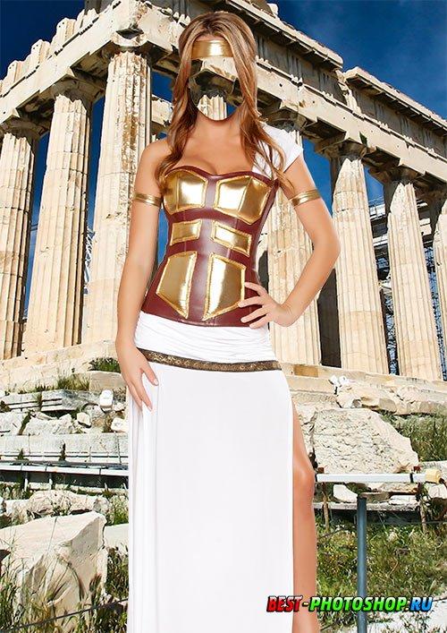Женский фотошаблон - Греческая богиня