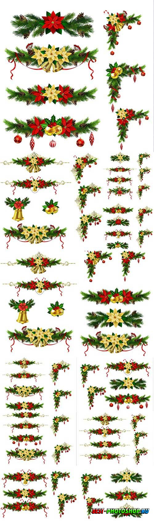 New Year and Christmas vector vol 9