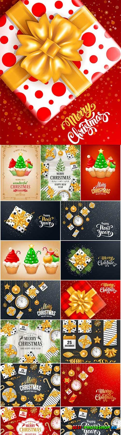 New Year and Christmas vector vol 8