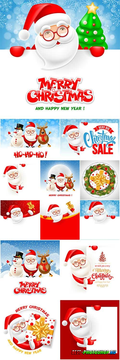 New Year and Christmas vector vol 5