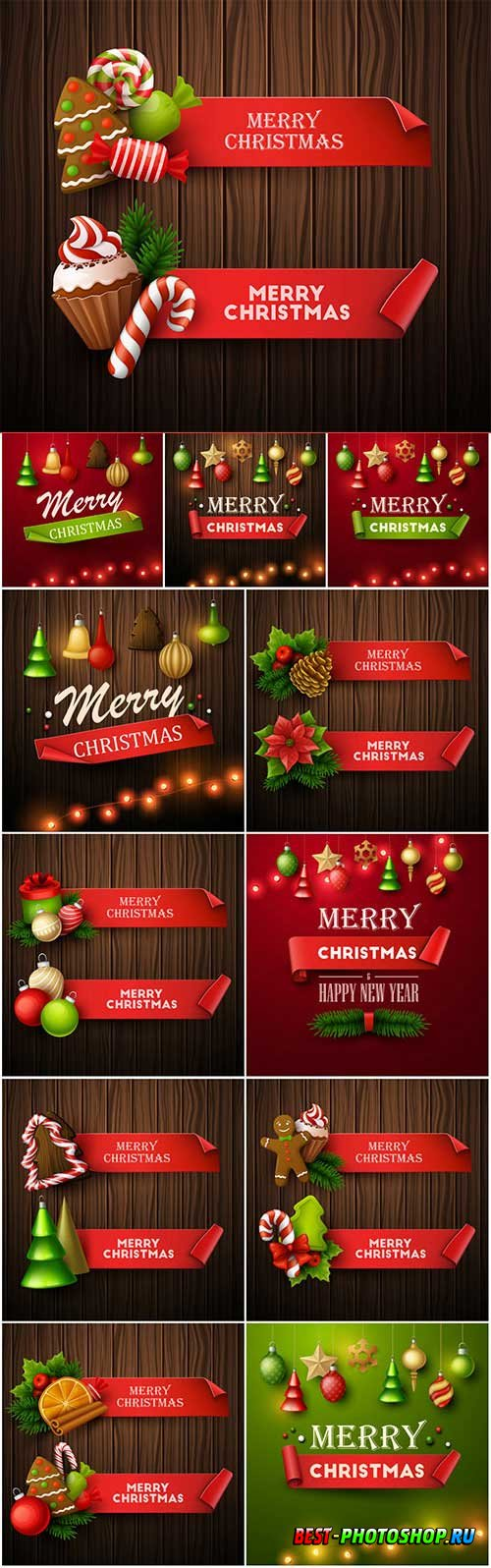 New Year and Christmas vector vol 7