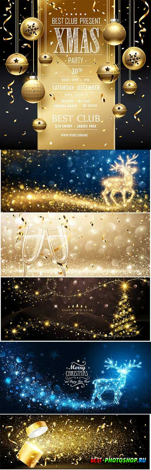 New Year and Christmas vector vol 1