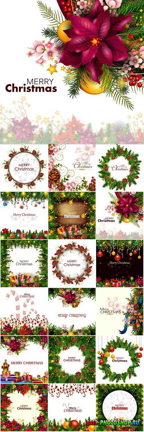 New Year and Christmas vector vol 4