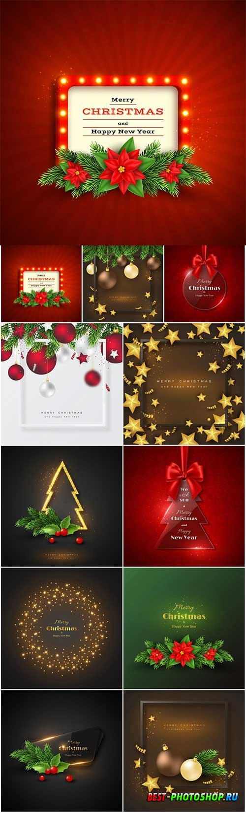 New Year and Christmas vector vol 3