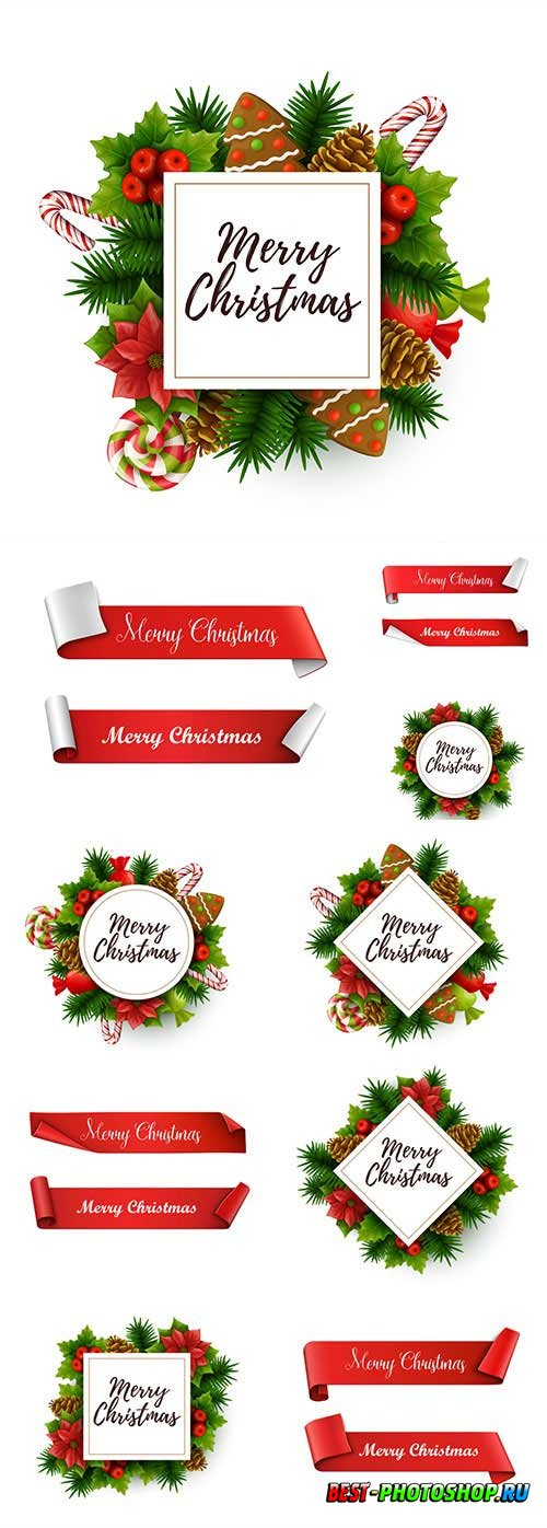 New Year and Christmas vector vol 2
