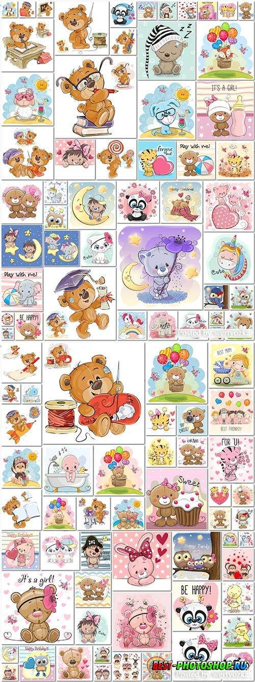 100 Bundle funny animals in vector vol 1